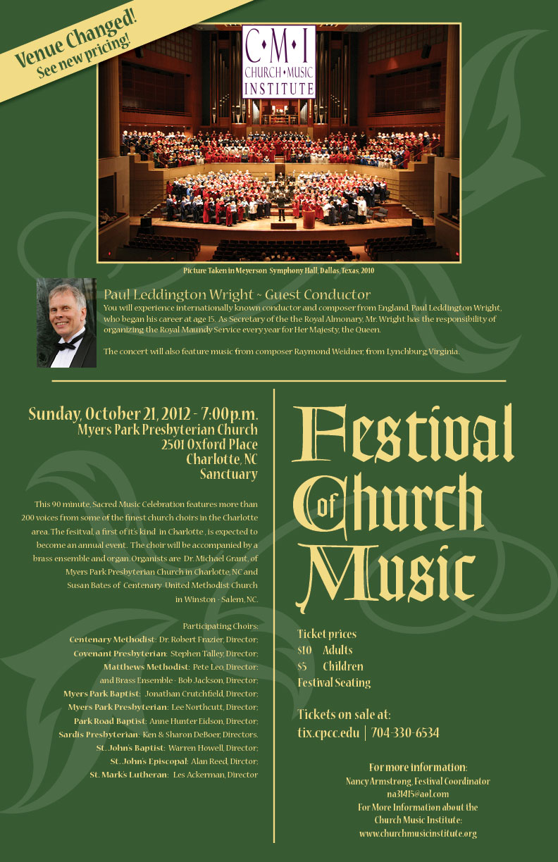 report on festival of church music in charlotte nc