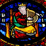 King David in stained glass