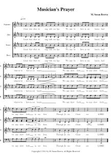 Musician's Prayer - Susan Brown